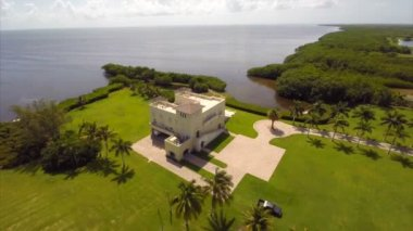 Aerial video Deering Bay and estates — Stock Video