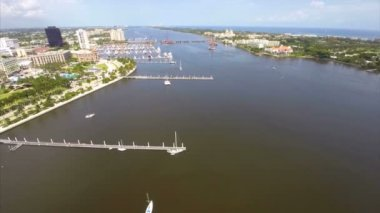 Aerial video West Palm Florida — Stok video
