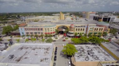 Aerial video Sunset Place Miami — Video Stock