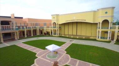 Aerial video Misner Park Amphitheater — Stock Video