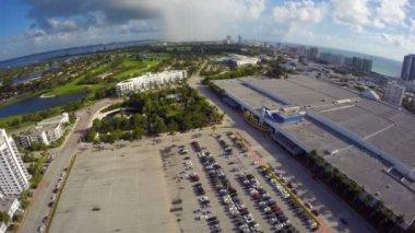 Aerial Miami Beach convention center — Vidéo