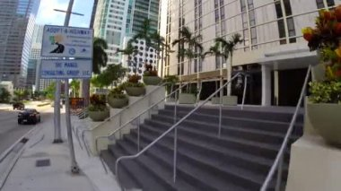 Brickell Avenue in Miami — Stock Video