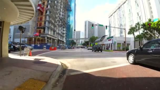 Walking on the residential streets of South Beach FL — Vidéo