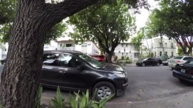 Walking on the residential streets of South Beach FL — Stock Video
