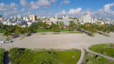 Miami Beach aerial video — Stockvideo