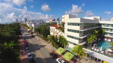 Aerial video Ocean Drive Miami FL — Stock Video