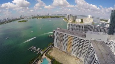 Letecká videa Miami Beach byty a nemovitosti — Stock video