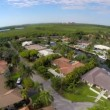 Aerial video waterfront homes in Coral Gables Florida — Stock Video #57330109