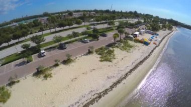 Aerial video Key Biscayne Miami — Stock Video