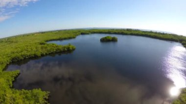 Aerial video of a nature preserve — Stock Video