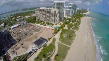 Aerial video of Bal Harbour Miami FL — Stock Video