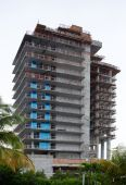 Building construction in Miami Beach — 图库照片