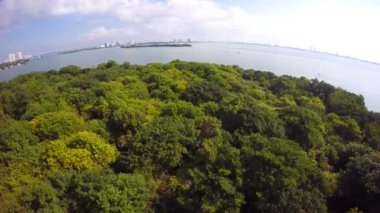 Secluded islands Miami aerial video — Stock Video