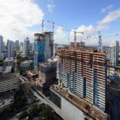 Aerial photos of Brickell City Center Miami — Stock Photo