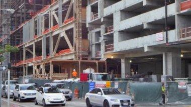 Sitio de construcción del centro de Brickell — Vídeo de Stock