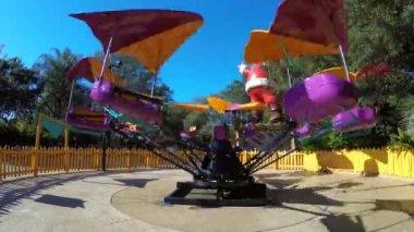 Busch Gardens rides — Stock Video