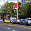 Light traffic on the newly paved Collins Avenue — Stock Video #60410481
