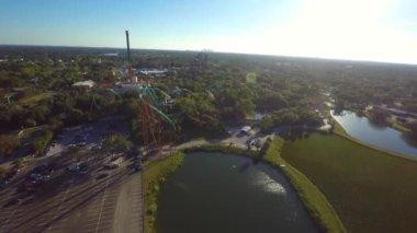 Busch Gardens Rollercoasters — Stock Video