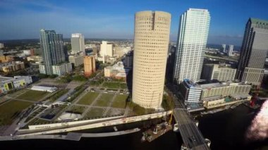 Aerial video footage of Downtown Tampa Florida — Stock Video