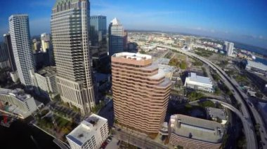 Aerial video footage of Downtown Tampa — Stock Video