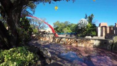 Roller coaster splash zone — Stock Video