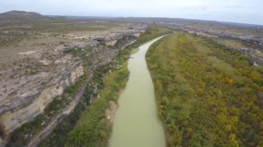 Aerial footage of Rio Grande — Stock Video