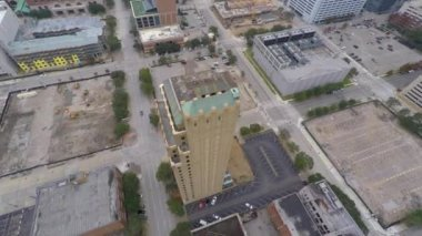 Downtown Houston Texas aerial video — Stock Video