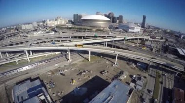 Downtown New Orleans highways — Stock Video