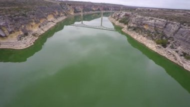 Pecos River aerial view — Stock Video