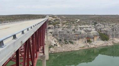 Pecos River bridge flyover Texas — Stock Video
