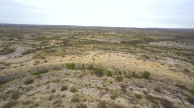 Aerial hyperlapse video of Texas desert — Vídeo de stock