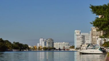 Video of Miami Beach Intracoastal Waterway — Stock Video