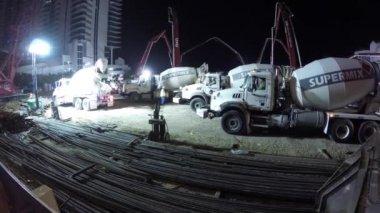 Night construction of the ultra luxury Jade Signature — Stock Video