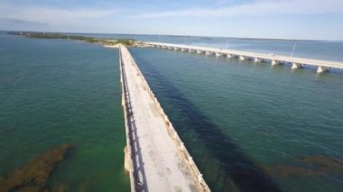 Overseas highway and railroad — Stock Video