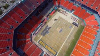 Aerial video Sunlife Stadium Miami — Stock Video