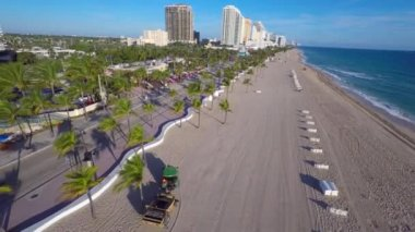 Aerial video Fort Lauderdale Beach — Stock Video