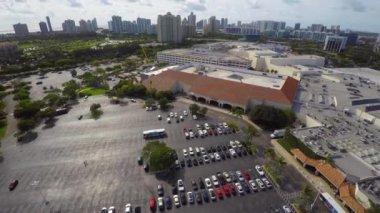 Aerial video Aventura Mall 4k — Stock Video