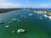 Aerial image Miami Haulover Park — Stock Photo