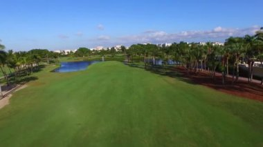 Aerial video of a golf course — Stock Video
