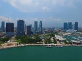 Aerial image Downtown Miami Bayside — Stock Photo