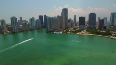 Aerial video of Downtown Miami — Stock Video
