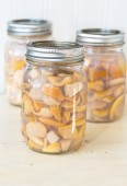 Homemade Bottled Bar Clams — Stock Photo