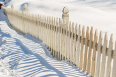 Winter Fence — Stock Photo
