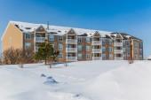Winter Apartment Building — Stock Photo