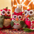 Christmas Owls — Stock Photo #59115587