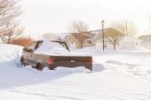 Snowstorm in Suburbia — Stock Photo