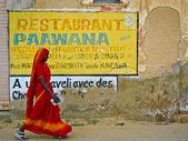 Mandawa Woman and ad — Stock Photo