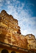 Mehrangarh Fort ramparts vertical — Stock Photo