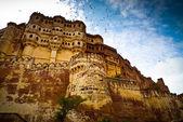 Mehrangarh Fort ramparts horizontal — Stock Photo