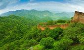 Kumbhalgarh Fort wall panorama — Stock Photo